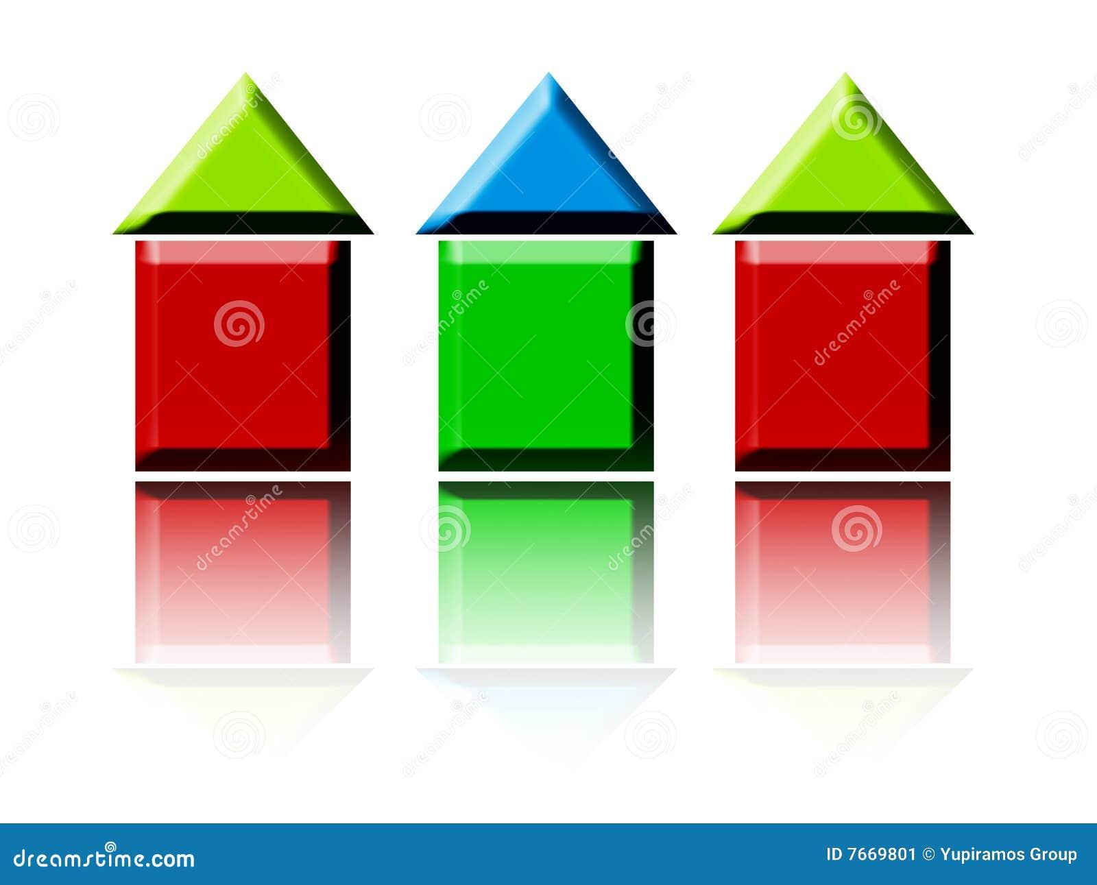 Hausfarben Stock Abbildung Illustration Von Strasse Hintergrund