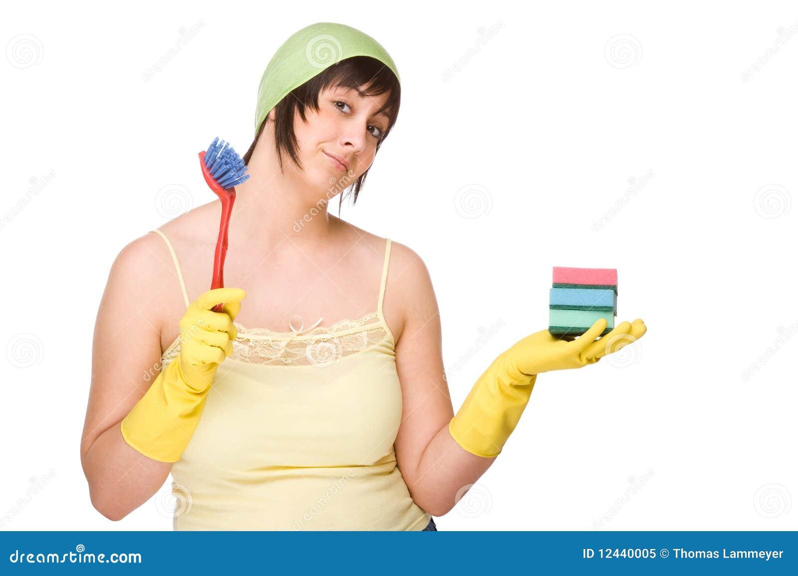 Fremdgehende Hausfrau Bei Der Arbeit