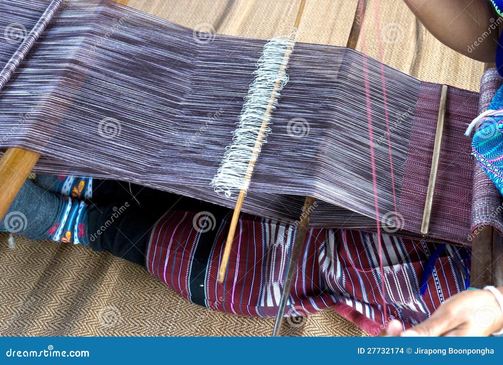 Hausfrauwebart-Baumwolltuch in Thailand
