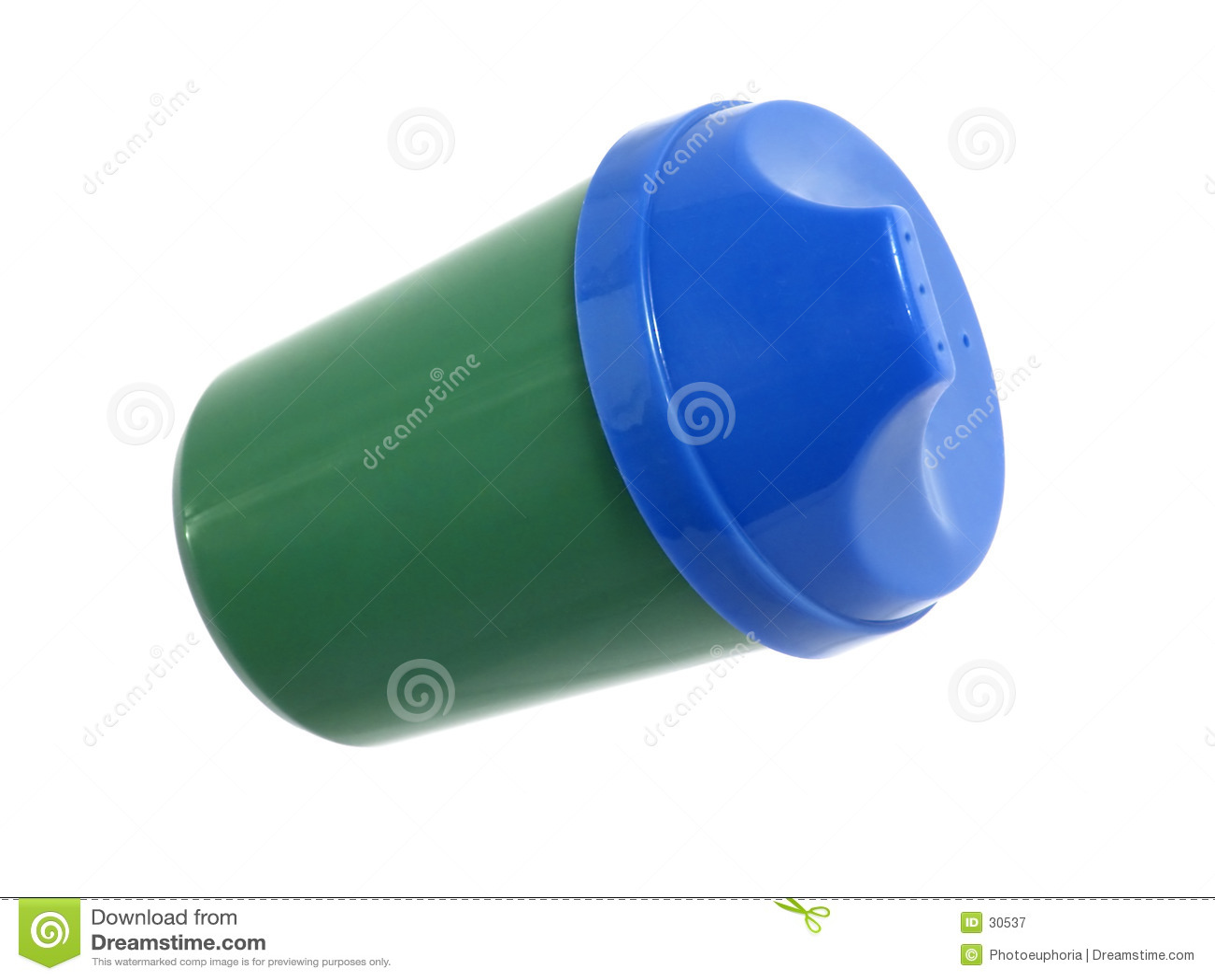 Haushalts-Felder: Blaues und grünes Kleinkind-Cup