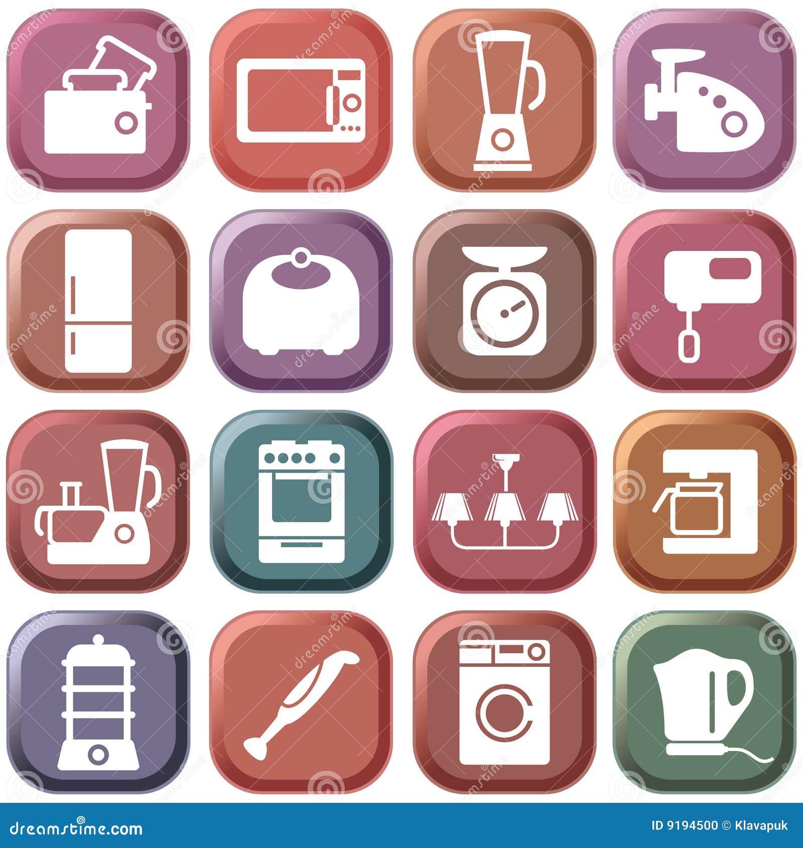 Haushaltsgeräte der Küche vektor abbildung. Illustration von ...