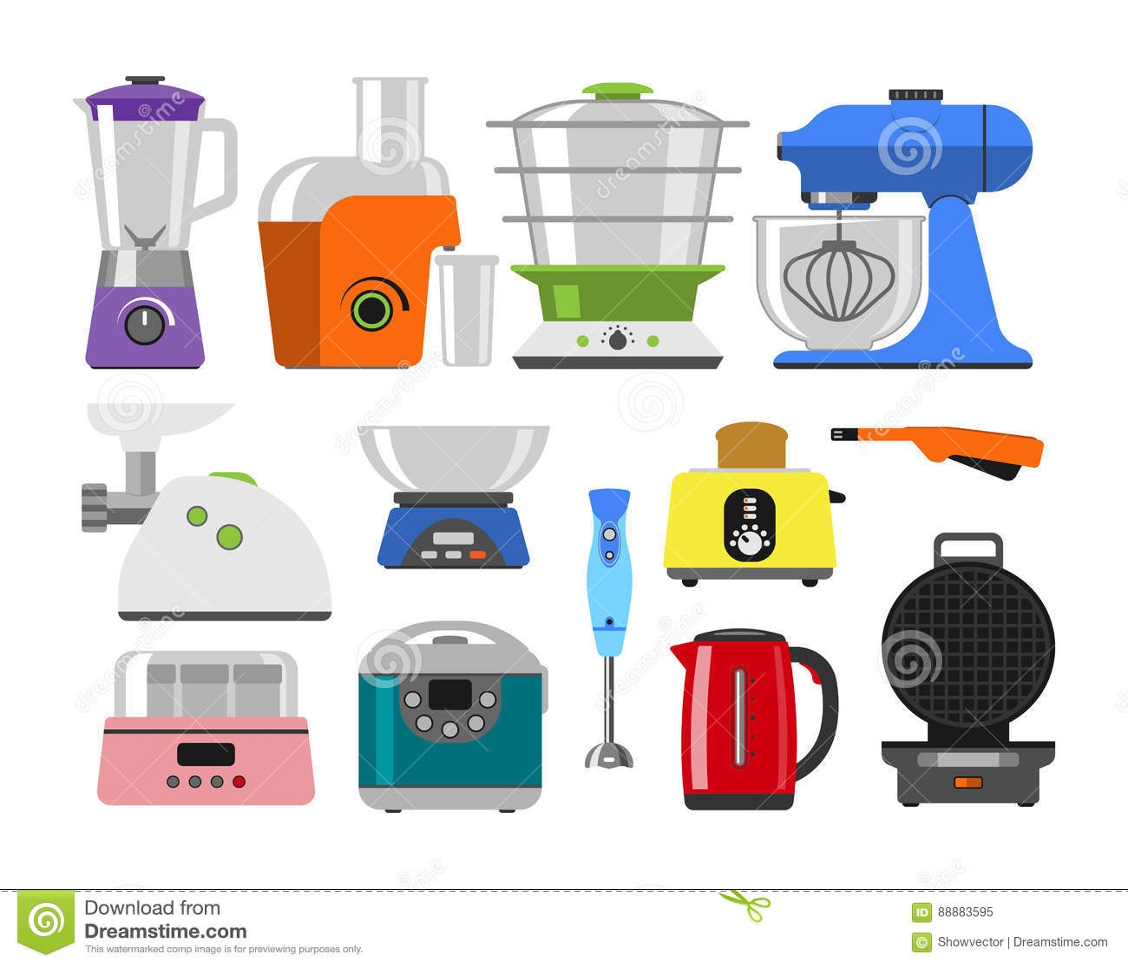 Haushaltsgeräte, Die Küchenhauptausrüstung Und Flachen Den ...
