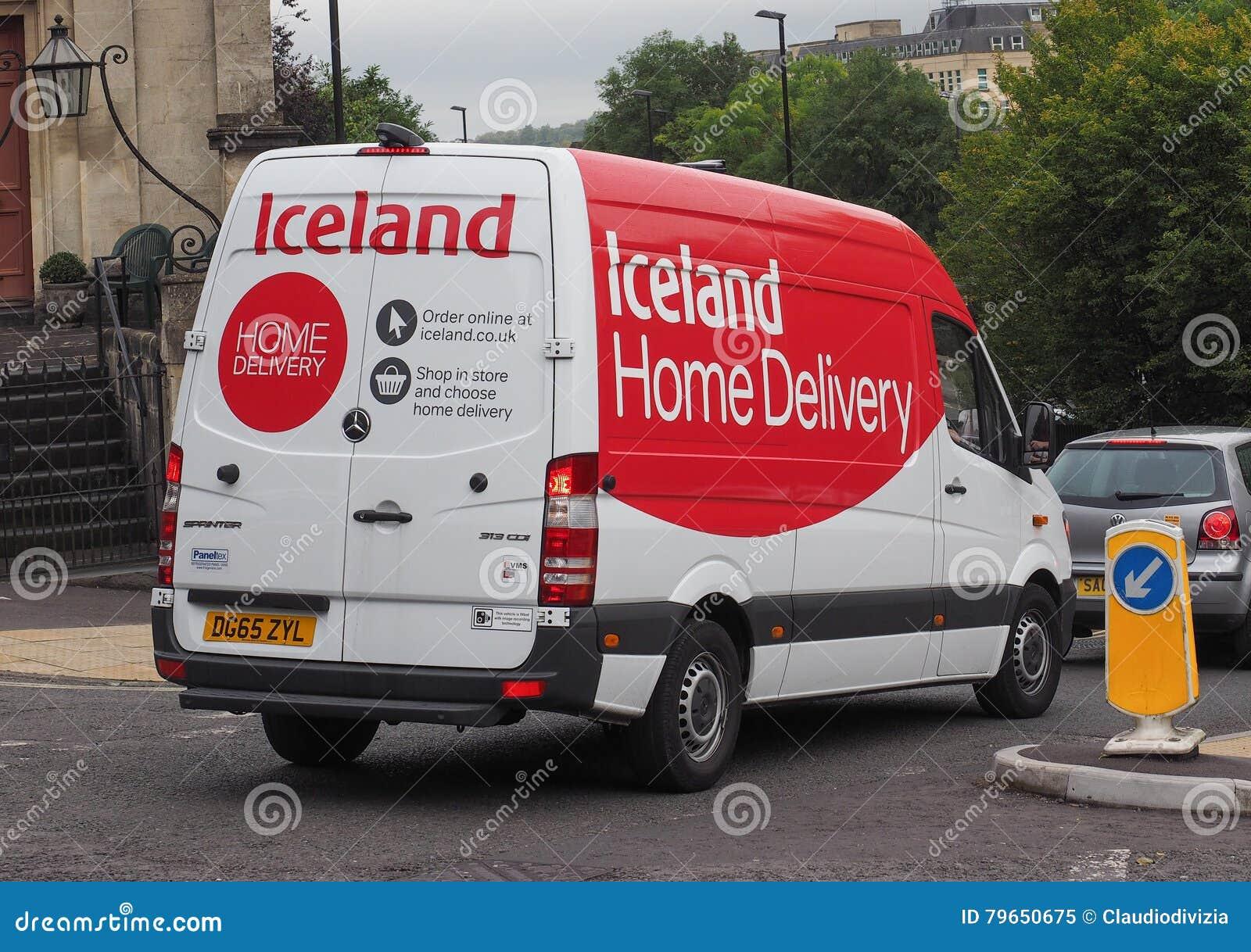 Hauslieferungspackwagen Islands