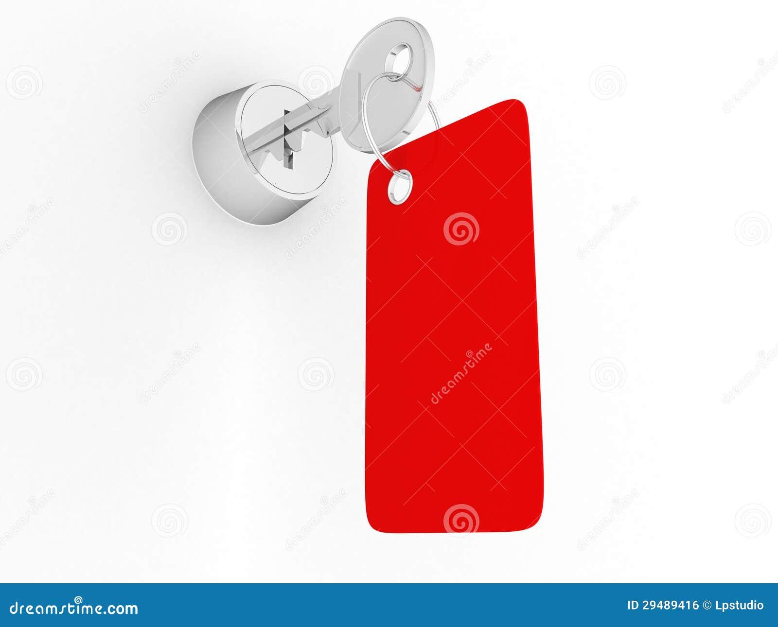 Hausschlüssel mit Aufkleber