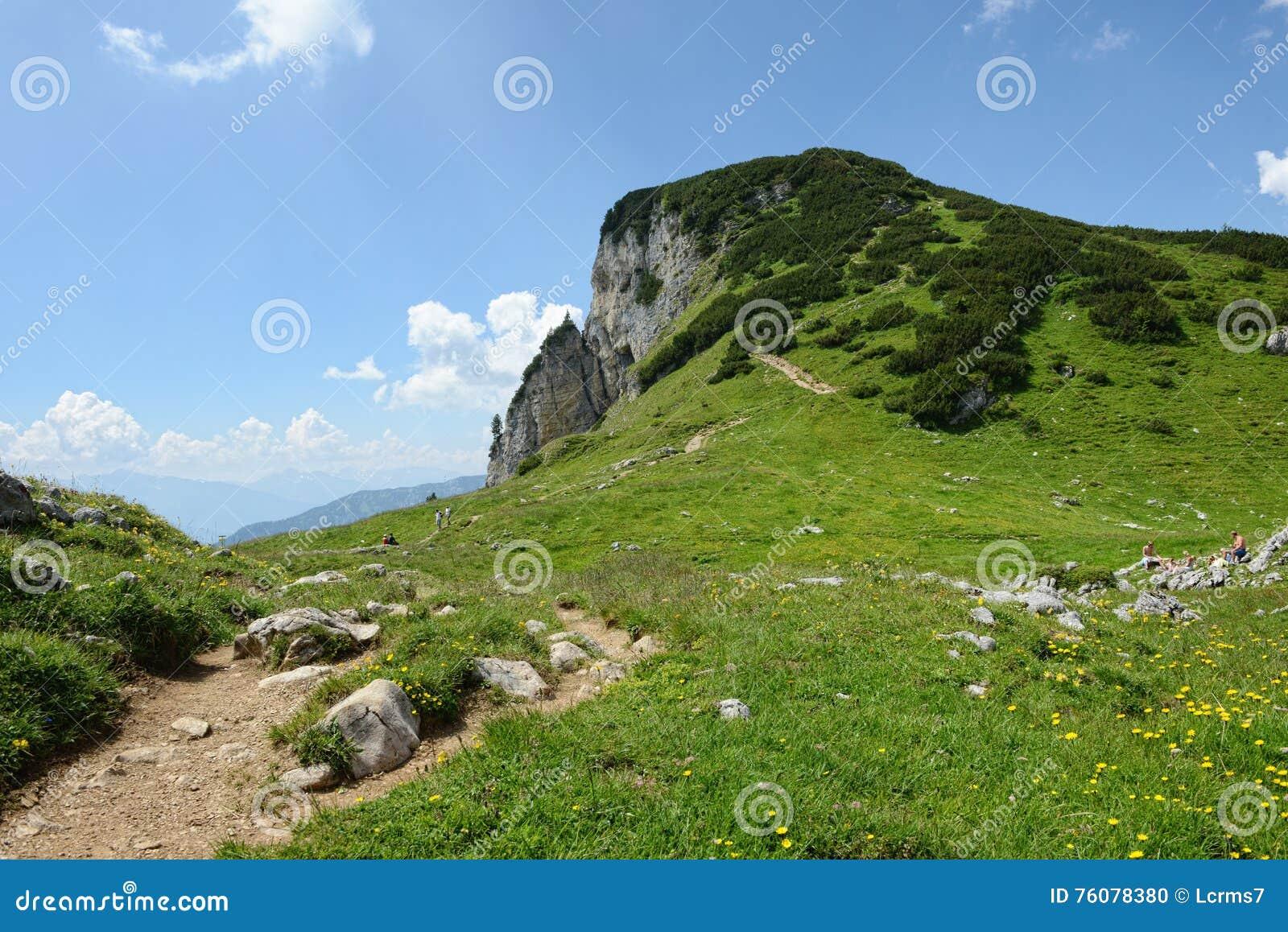 Hausse dans l aeria de montagne de Rofan au Tyrol (Autriche)