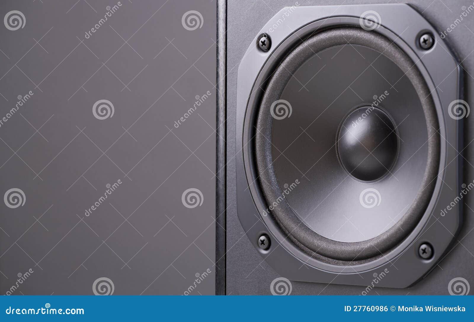 Haut-parleur noir