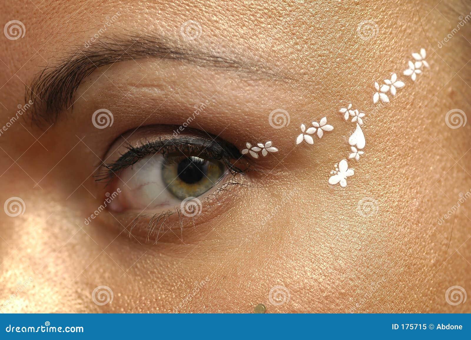 Haut proche d oeil