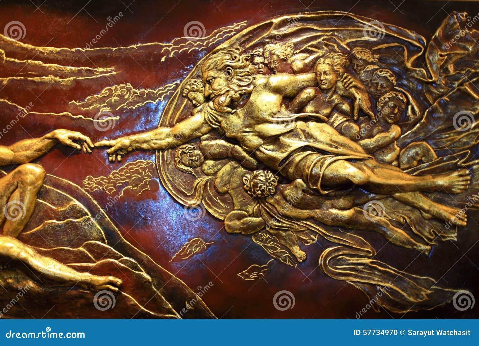 Haut-reliëfbeeldhouwwerk van Griekse mythologie