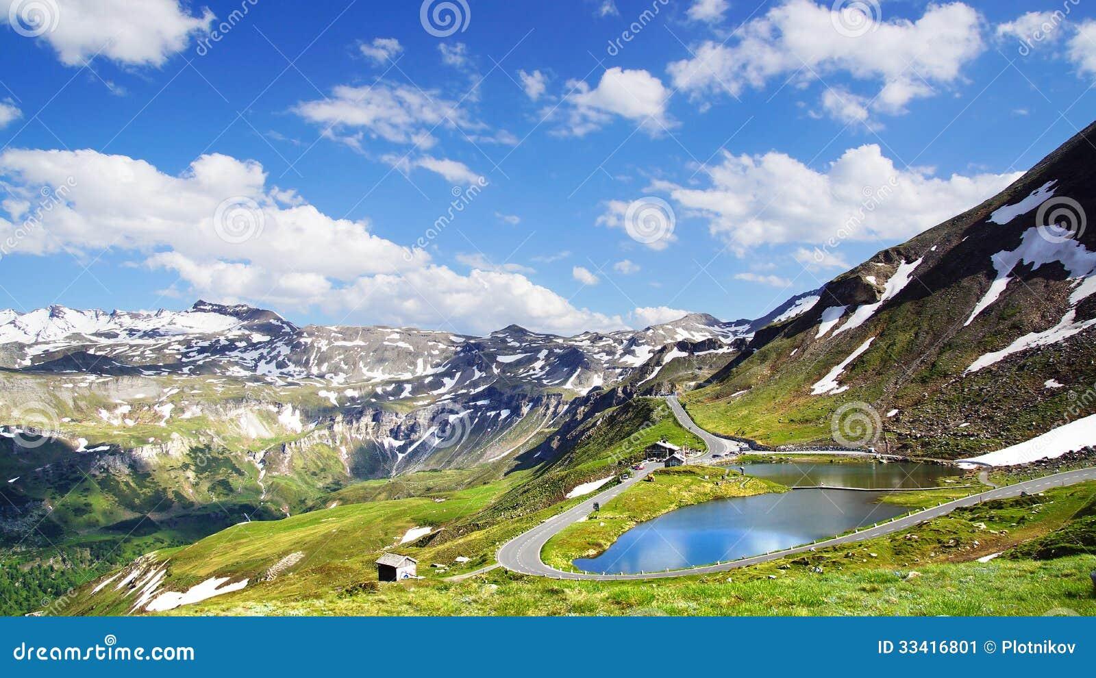 Haute route alpine de grossglockner autriche image stock for Haute route des alpes