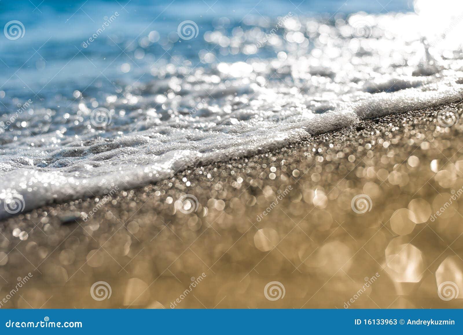 Hav för sand för strandskummakro