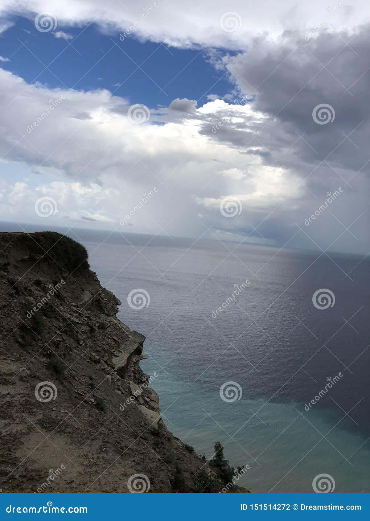 Hav himmel, natur, havskust, klippa, Black Sea, moln, berg