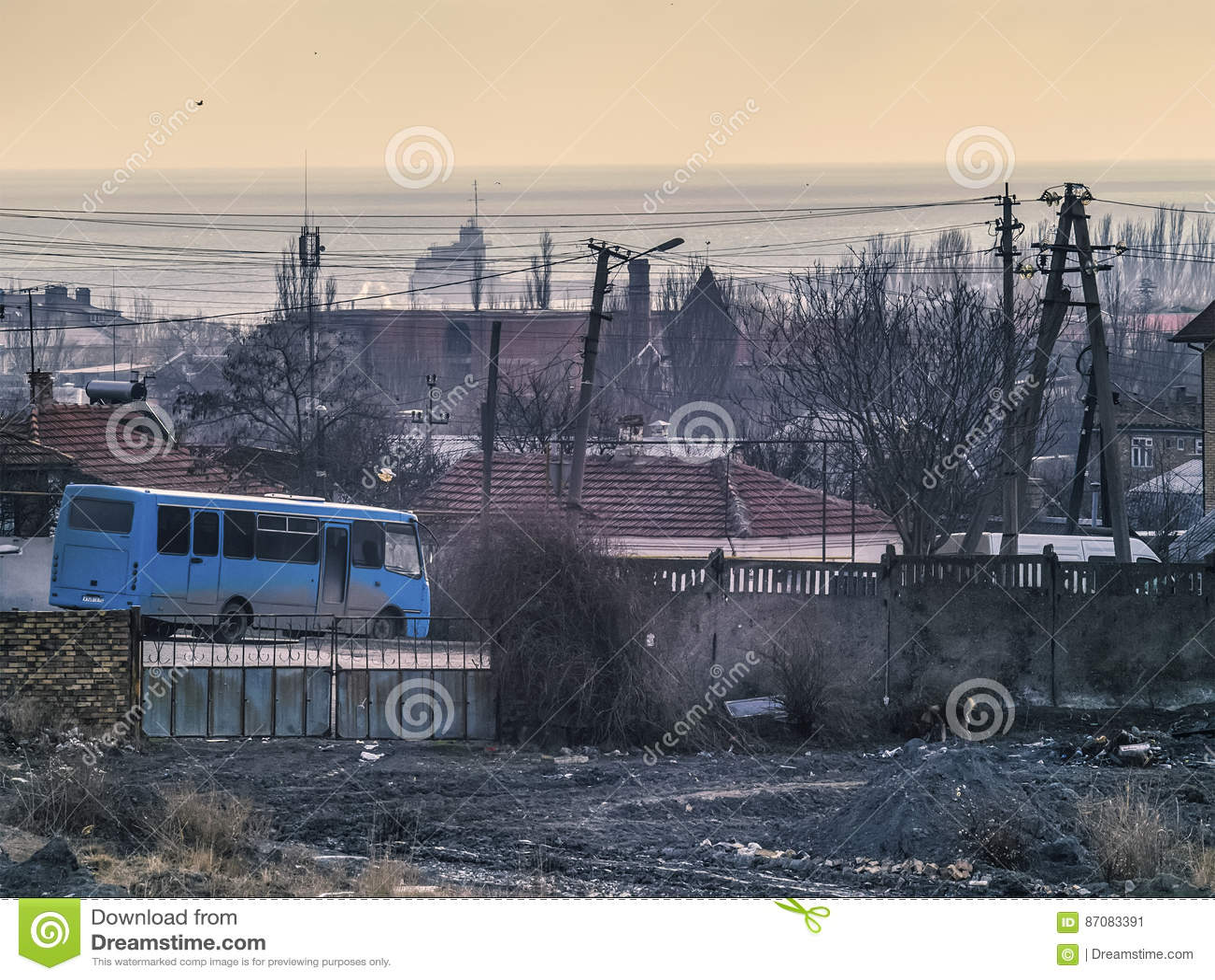 Hav, morgon, branschen och den blåa bussen