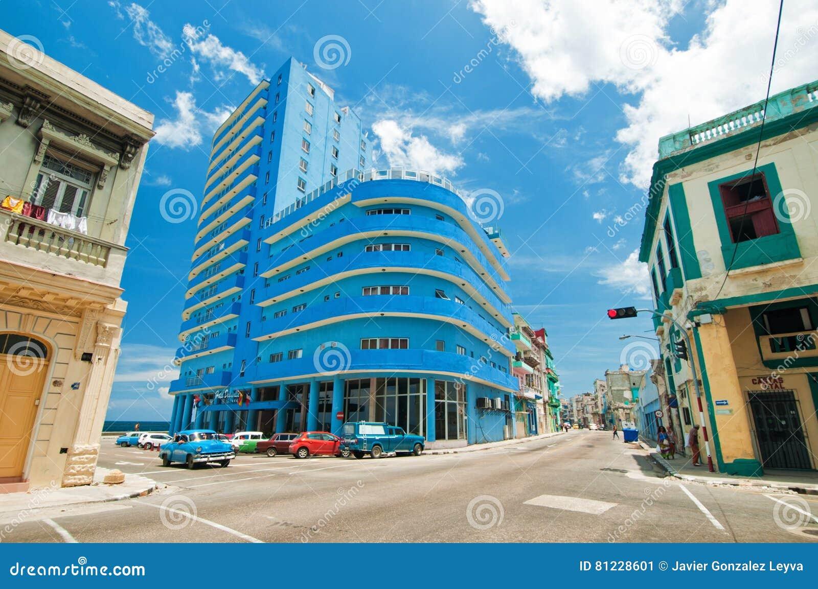 Havana Cuba Aug 15 2016 View Of Deauville Hotel Overlooking