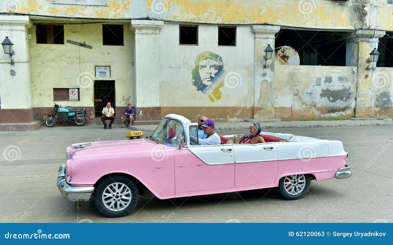 Havana, Cuba. Street Scene With Old Car Editorial Stock Photo ...