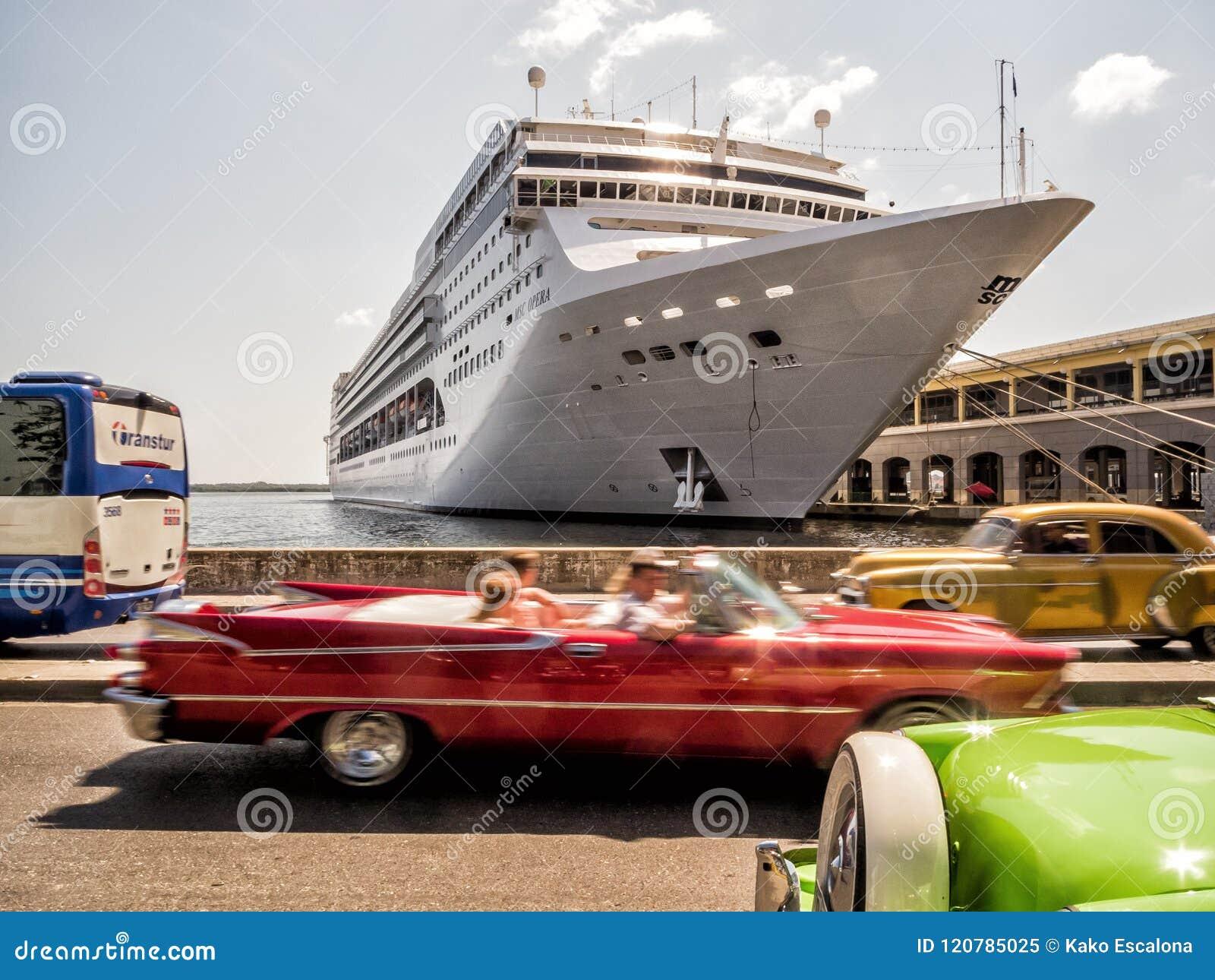 Classic car ride at Havana, Cuba