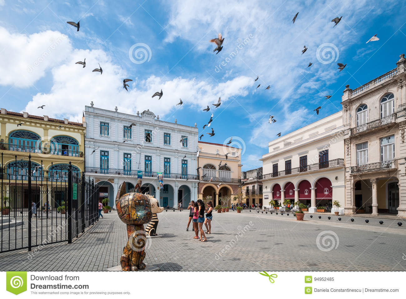 Havana Old Square or Plaza Vieja