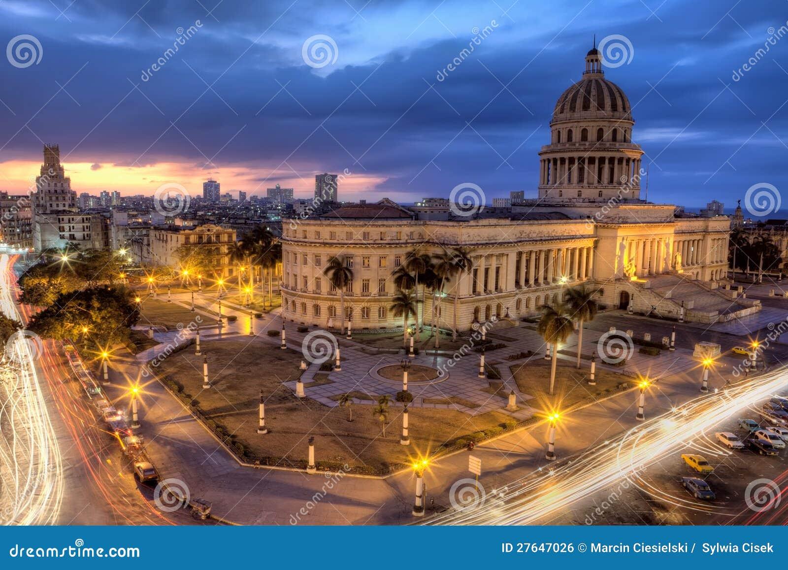Havana in  s nachts Cuba