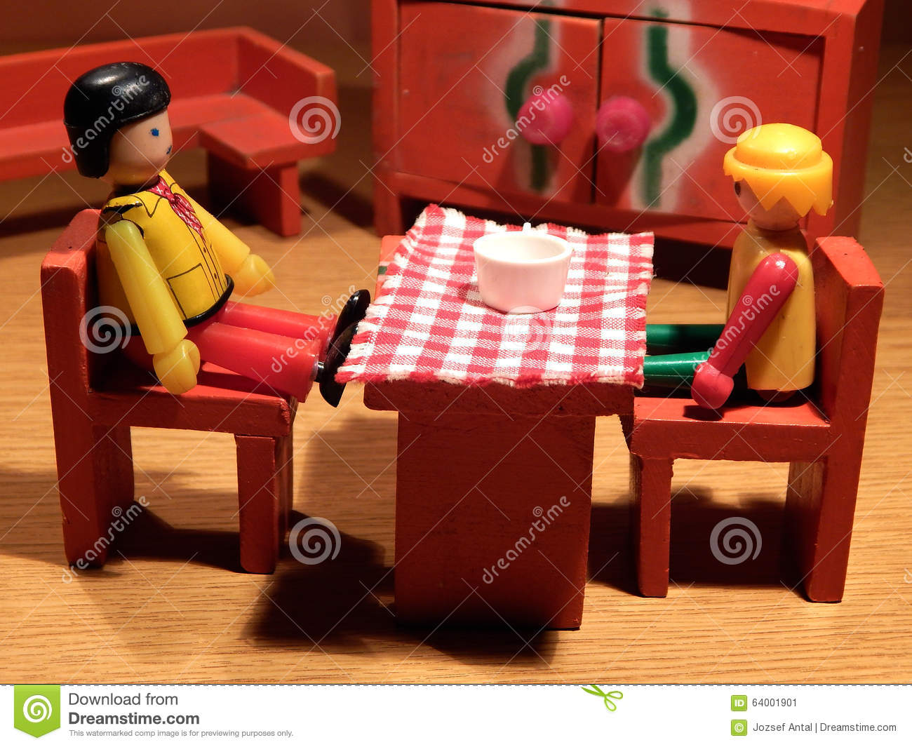 Have a chat stock photo image 64001901 for Toy kitchen table