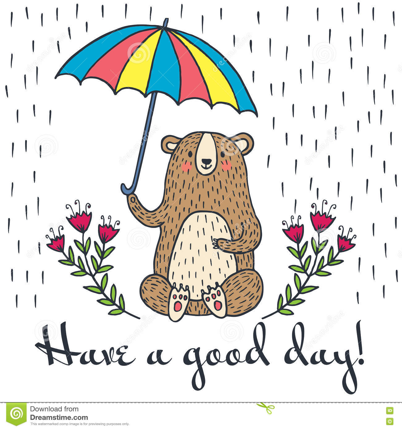 Have a good day greeting card stock illustration illustration of download have a good day greeting card stock illustration illustration of nice lettering m4hsunfo