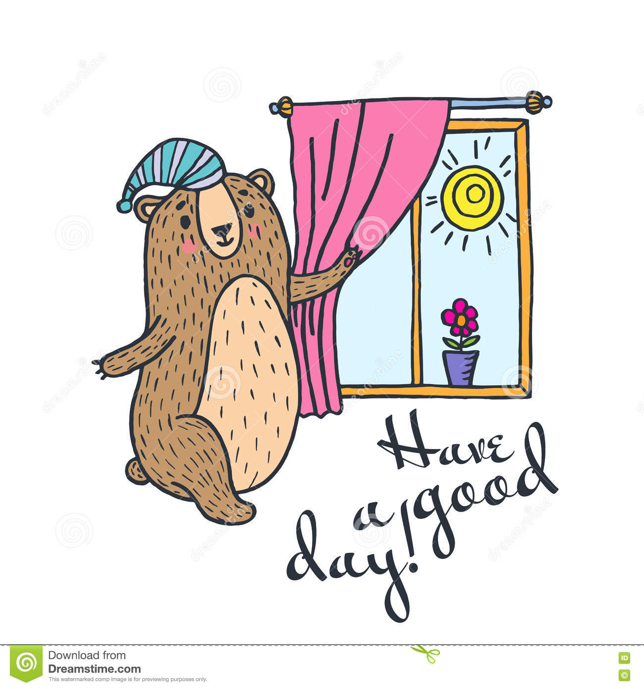 Have a good day greeting card stock illustration illustration of have a good day greeting card kristyandbryce Gallery