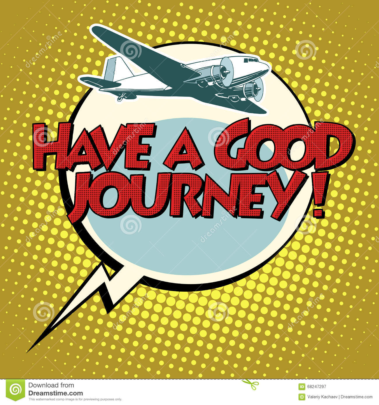 have a good journey flight plane illustration 68247297 - megapixl