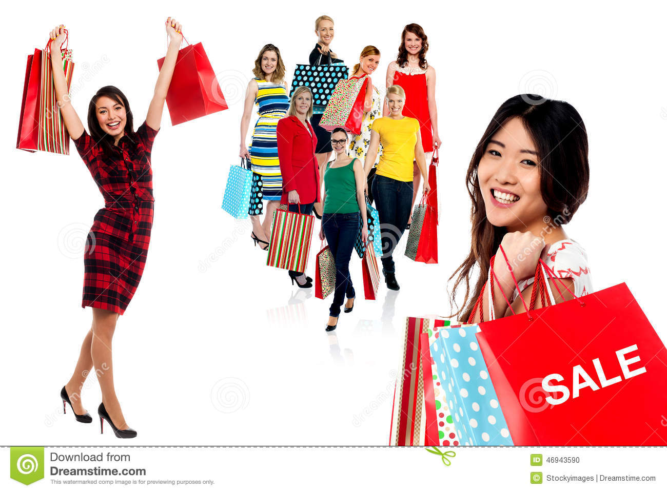 We have a great time shopping !