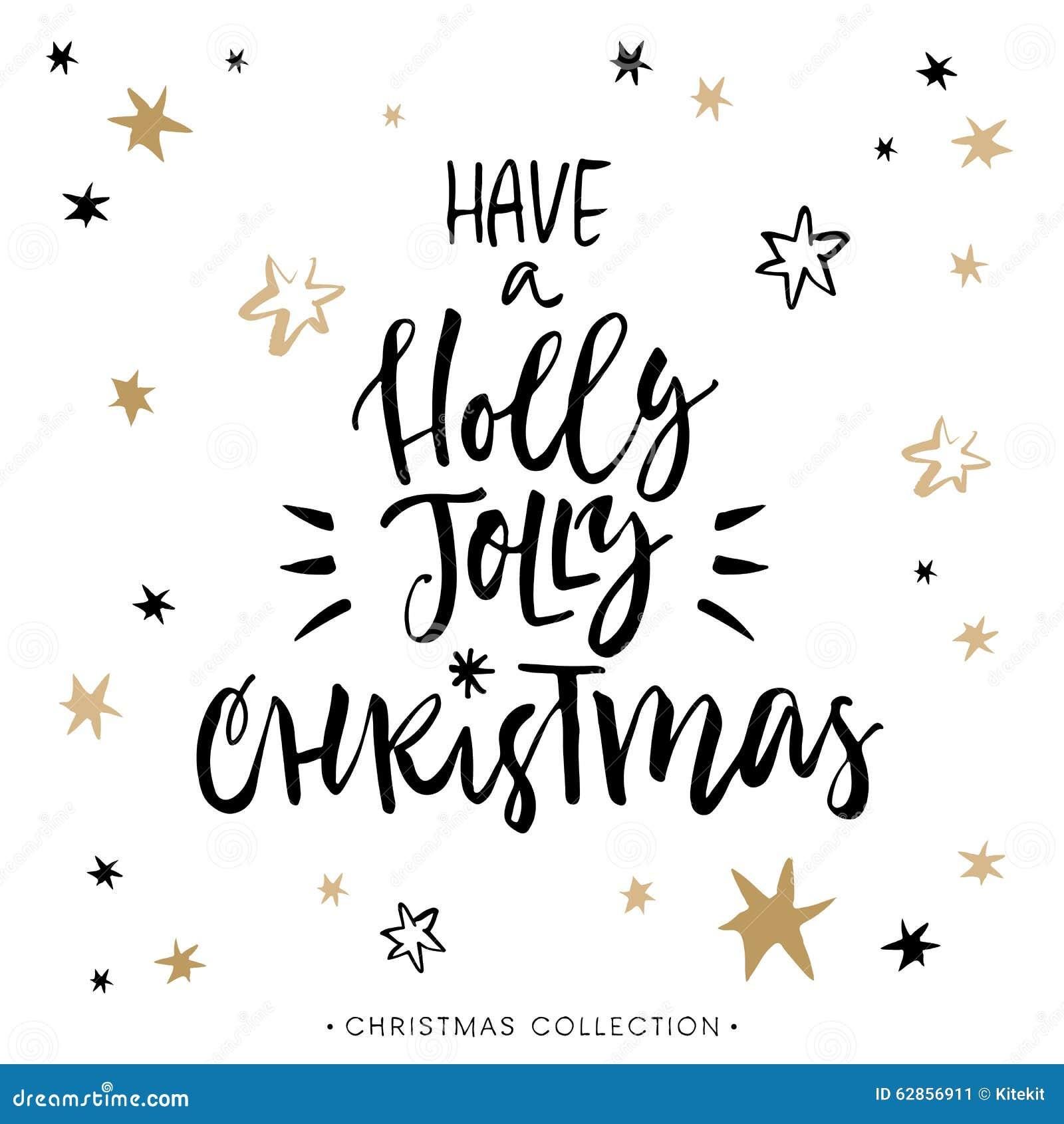 Have A Holly Jolly Christmas! Christmas Greeting Card. Stock Vector ...