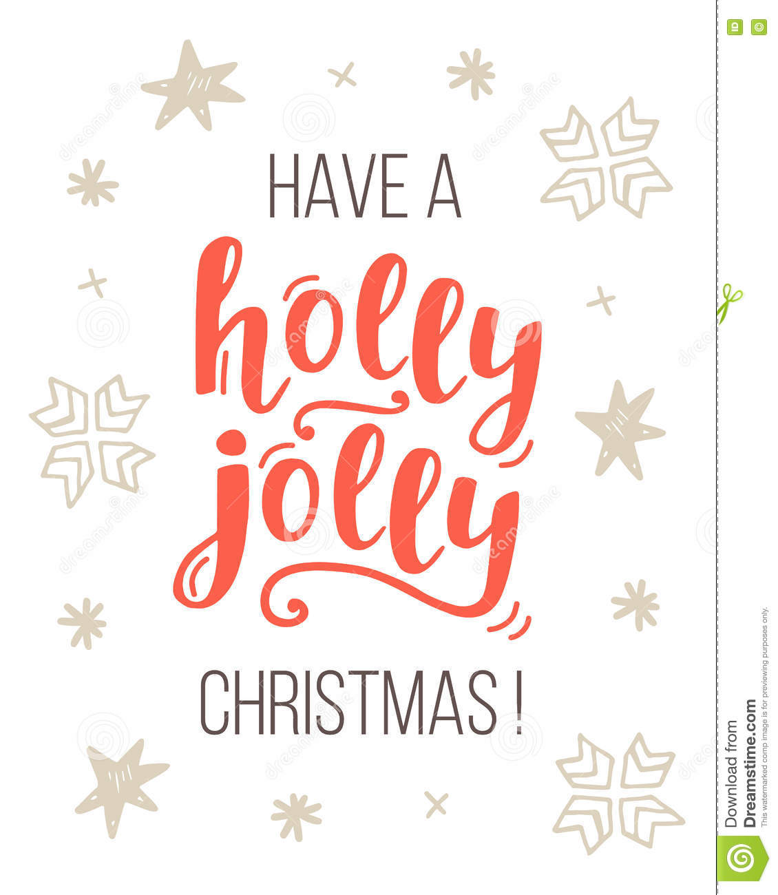 Have A Holly Jolly Christmas Greeting Card Stock Vector ...