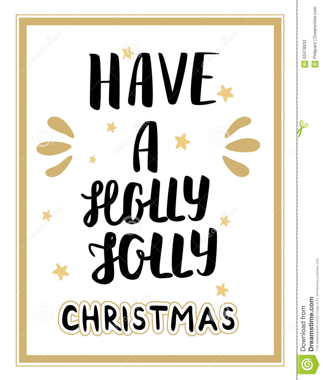 Have A Holly Jolly Christmas Lettering. Christmas Hand Calligraphy ...