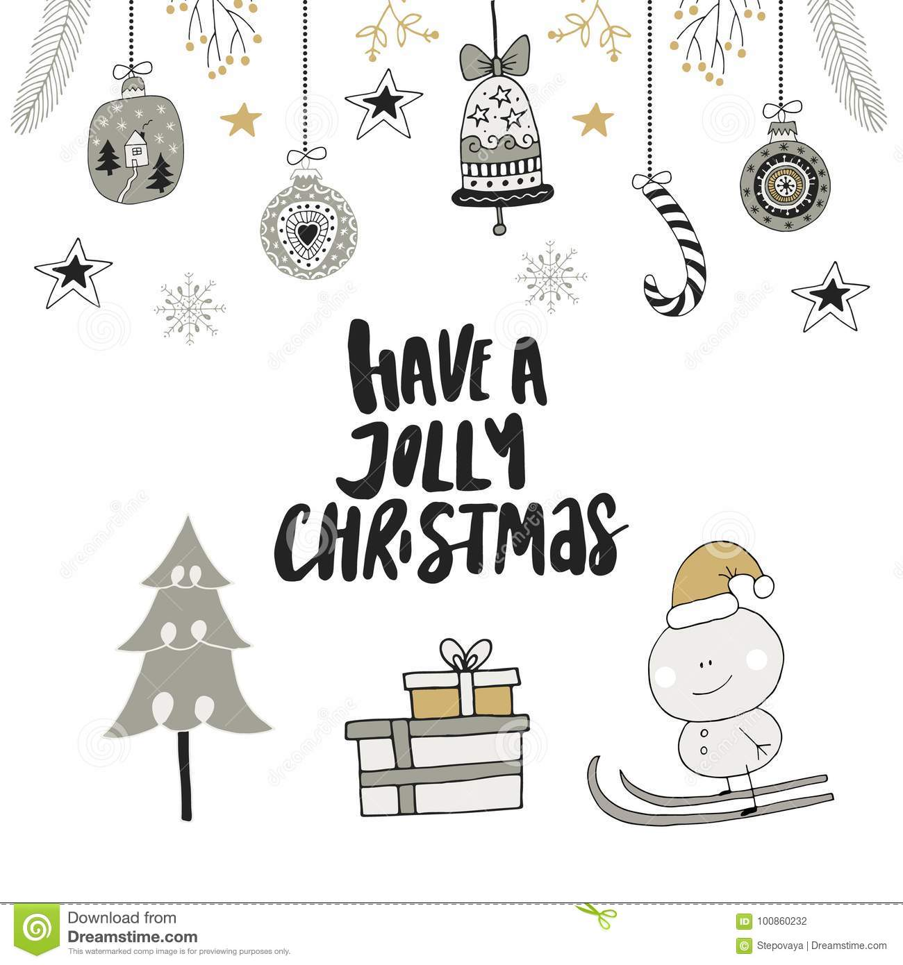cute new year clip art royalty free illustration have a jolly christmas hand drawn christmas lettering with floral and decorations cute new