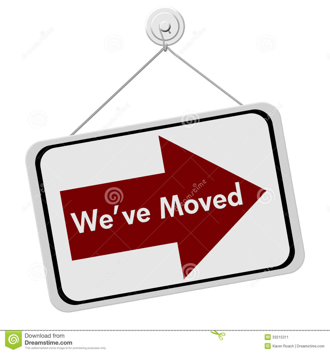 We Have Moved Sign Stock Image - Image: 33215311