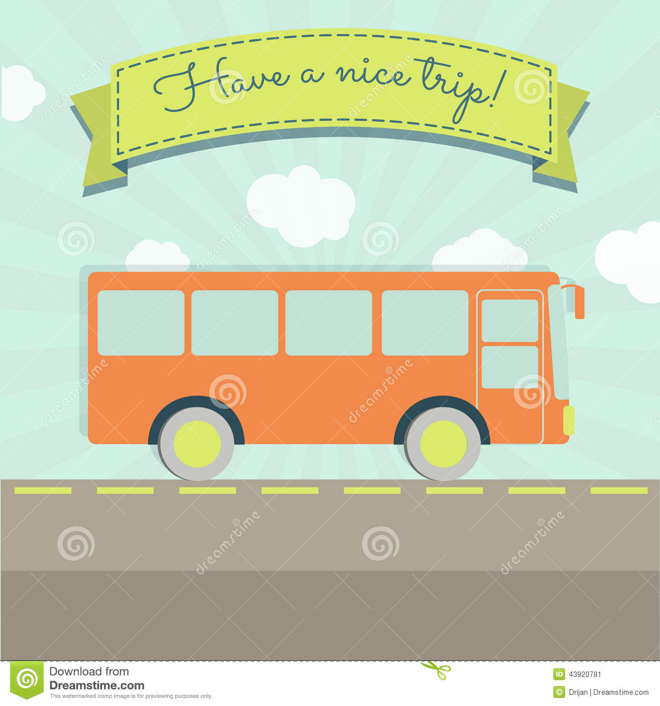 Have A Nice Bus Trip Stock Vector Image 43920781