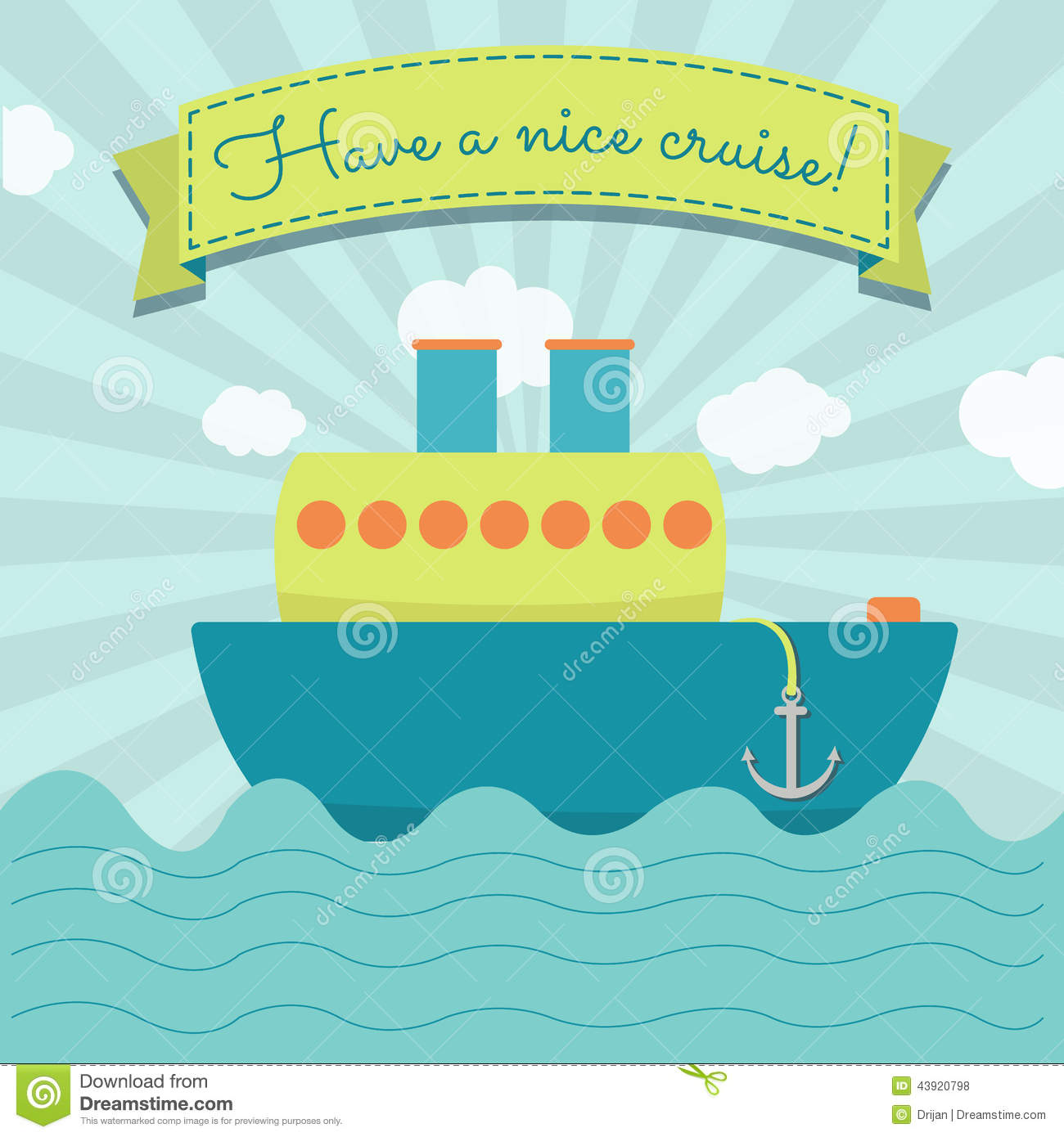 Have A Nice Cruise Stock Vector Image 43920798