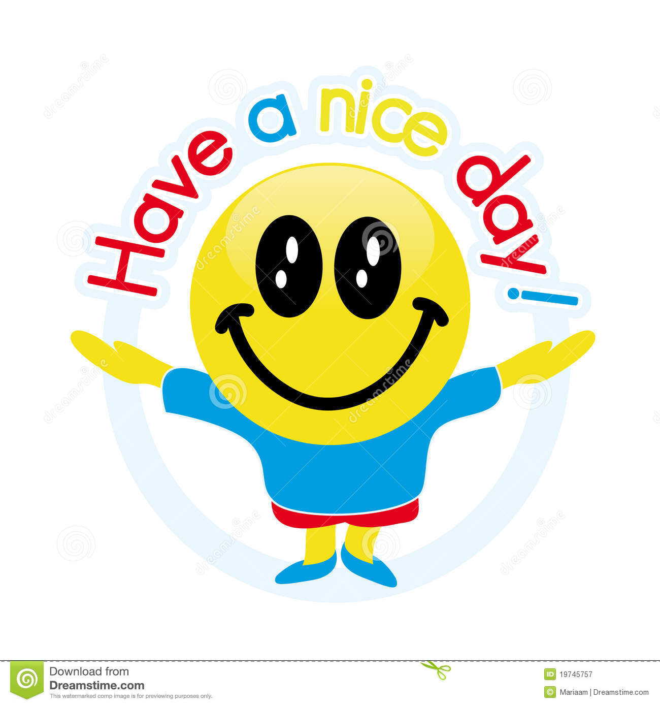 Have A Nice Day Stock Illustration Illustration Of Cheerful 19745757