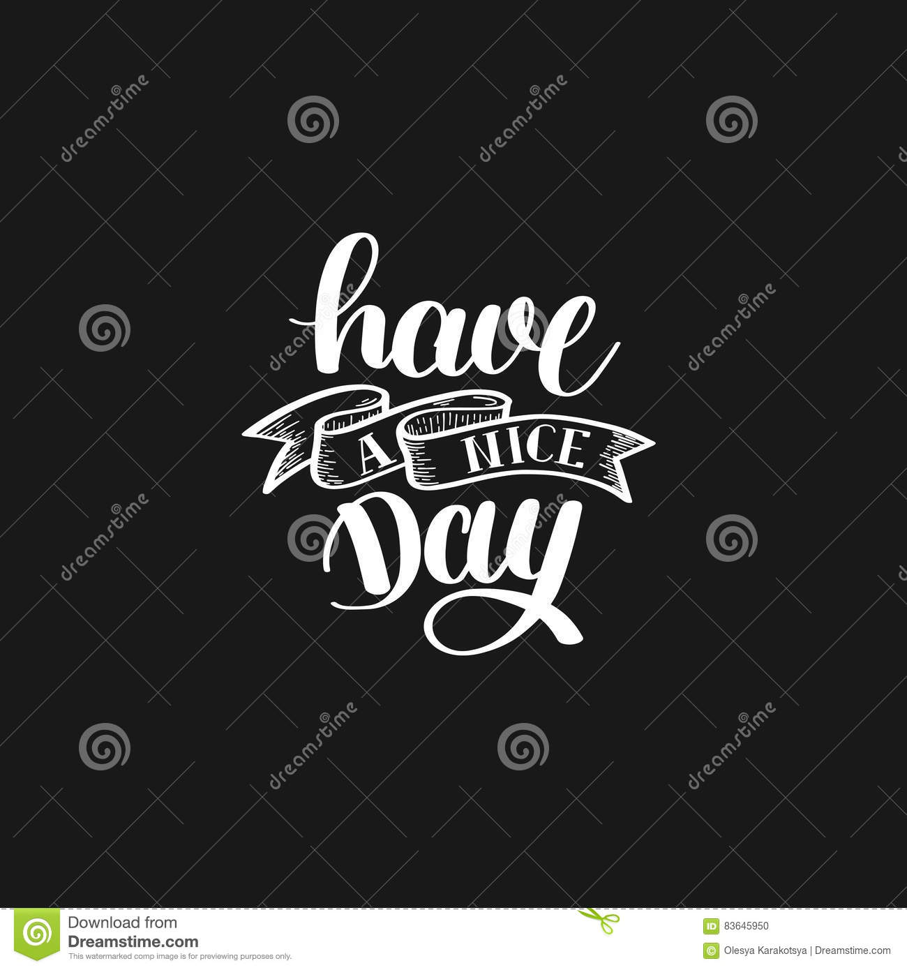 Vector Illustration Of Hand Lettering Text