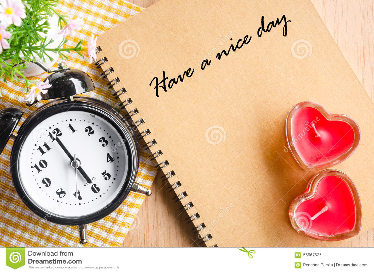 Have a nice day. stock photo. Image of page, diary, cute ...
