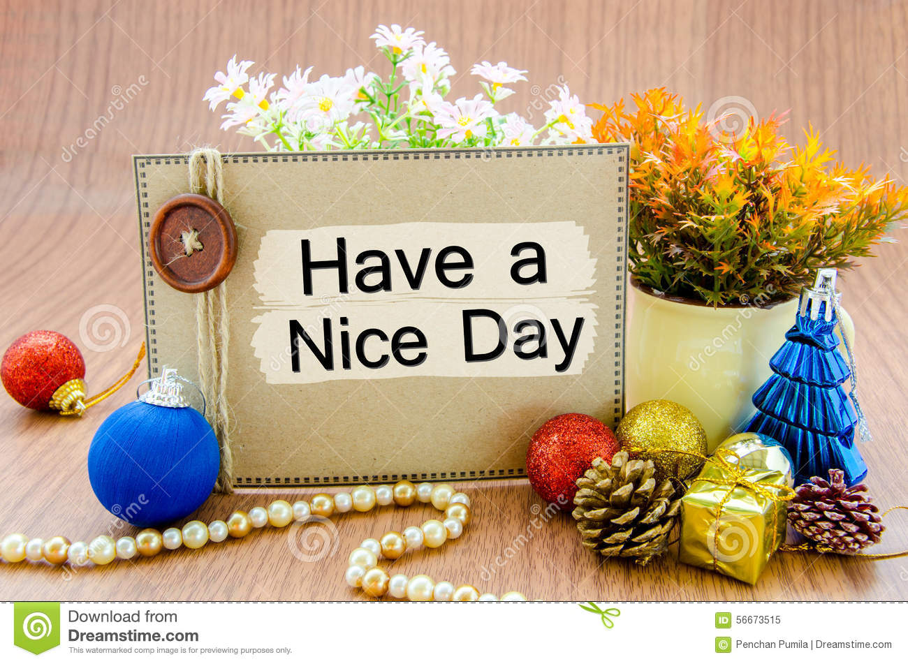 Have a nice day stock image. Image of blue, yellow, wish ...