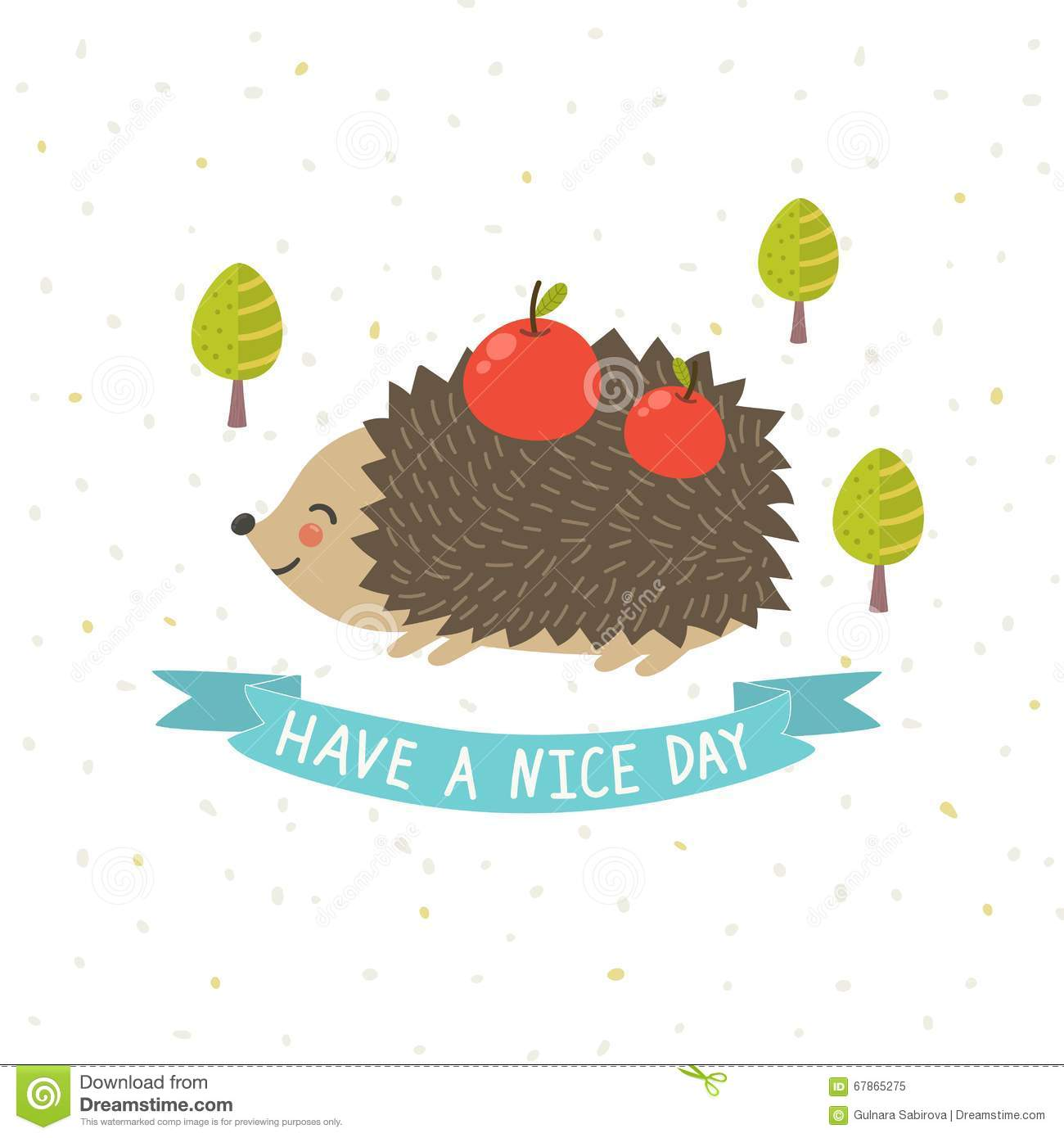 Have a nice day card with a cute hedgehog stock vector have a nice day card with a cute hedgehog m4hsunfo
