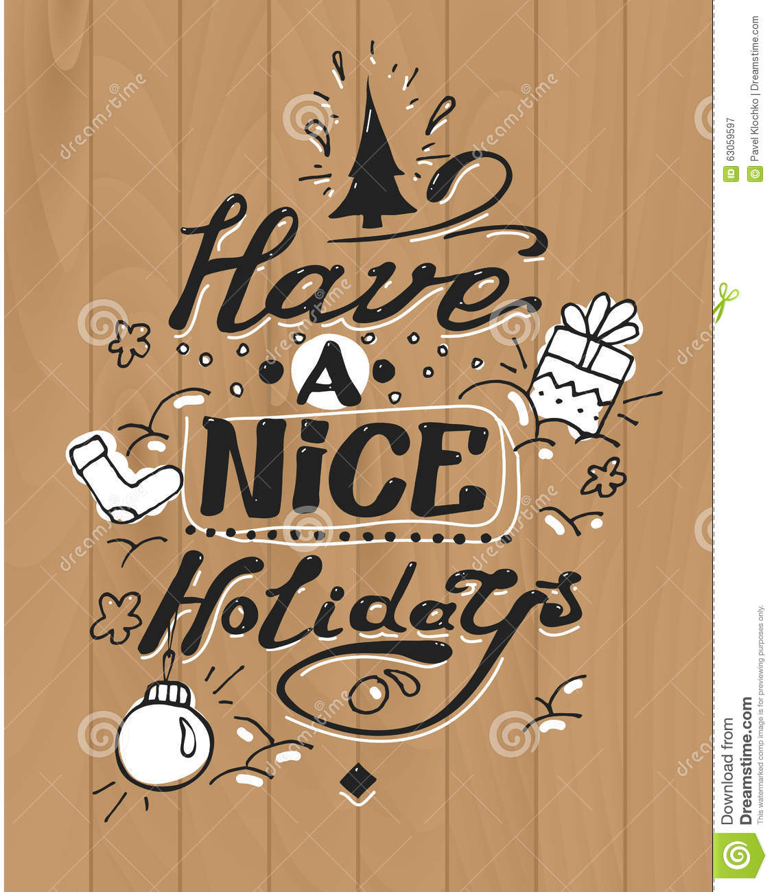 Have a nice holidays greeting card lettering and stock vector have a nice holidays greeting card lettering and kristyandbryce Gallery