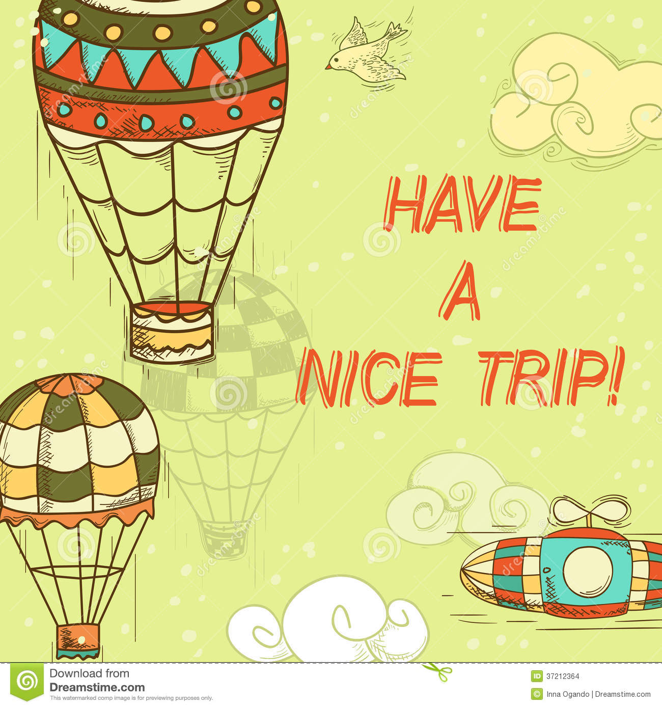 Have A Nice Trip Card Stock Images Image 37212364