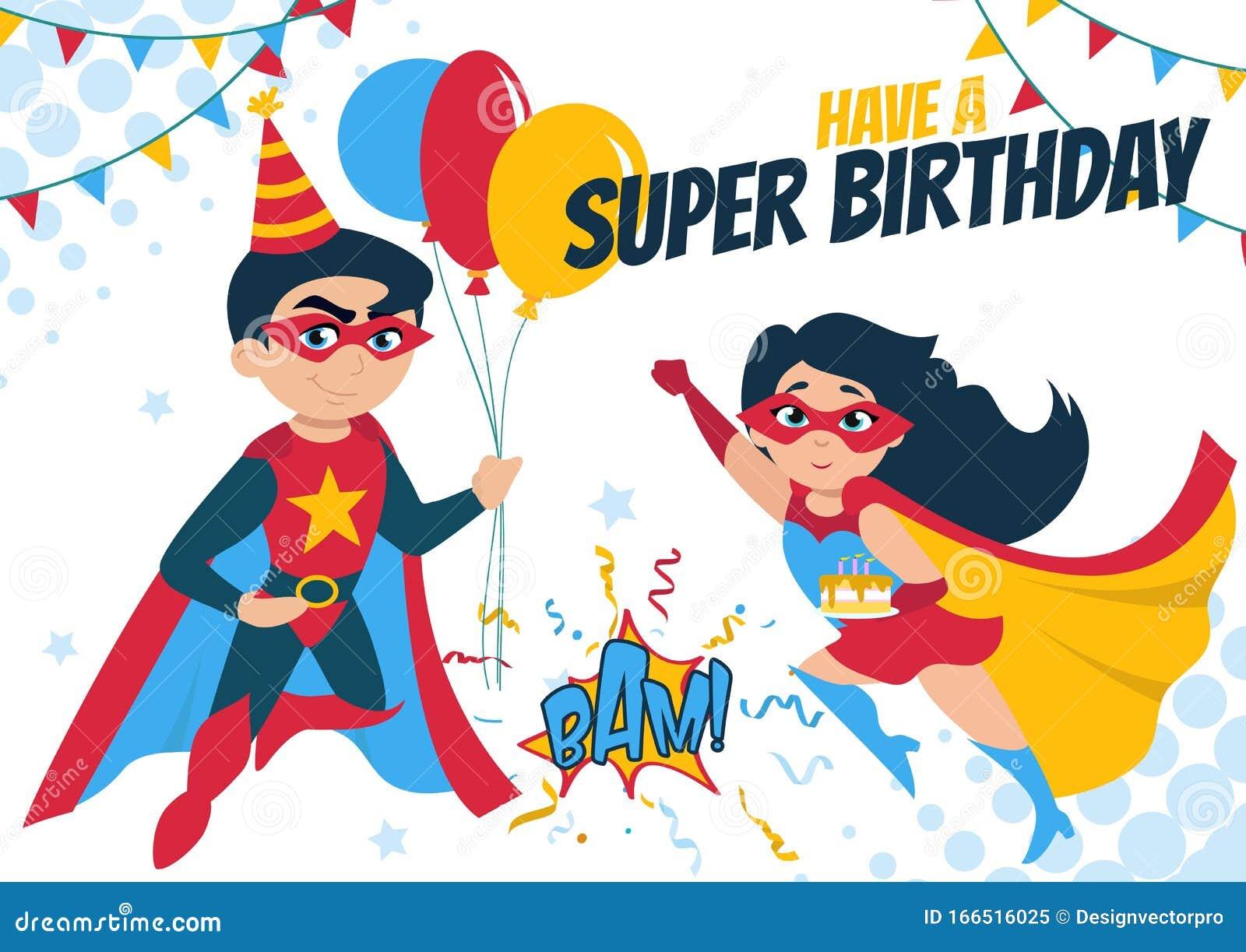 Superhero Birthday Cake Stock Illustrations – 21 Superhero Within Superman Birthday Card Template