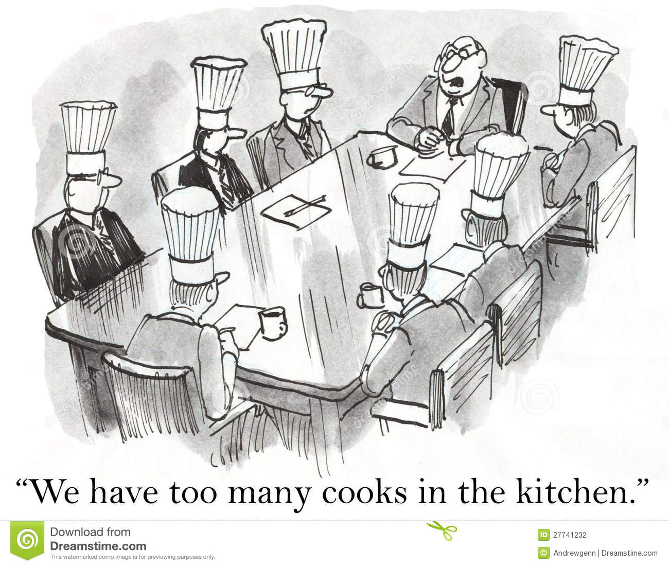 We Have Too Many Cooks In The Kitchen Stock Photography