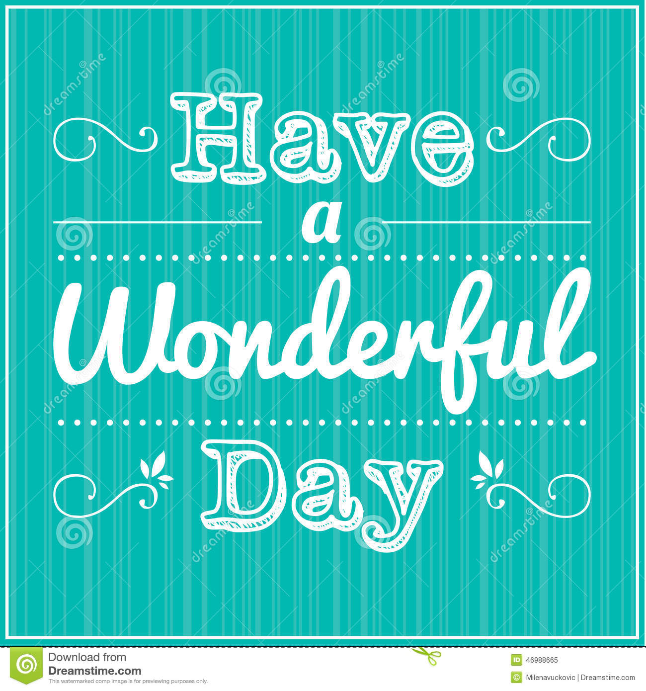 Have A Wonderful Day Stock Vector Illustration Of Card 46988665