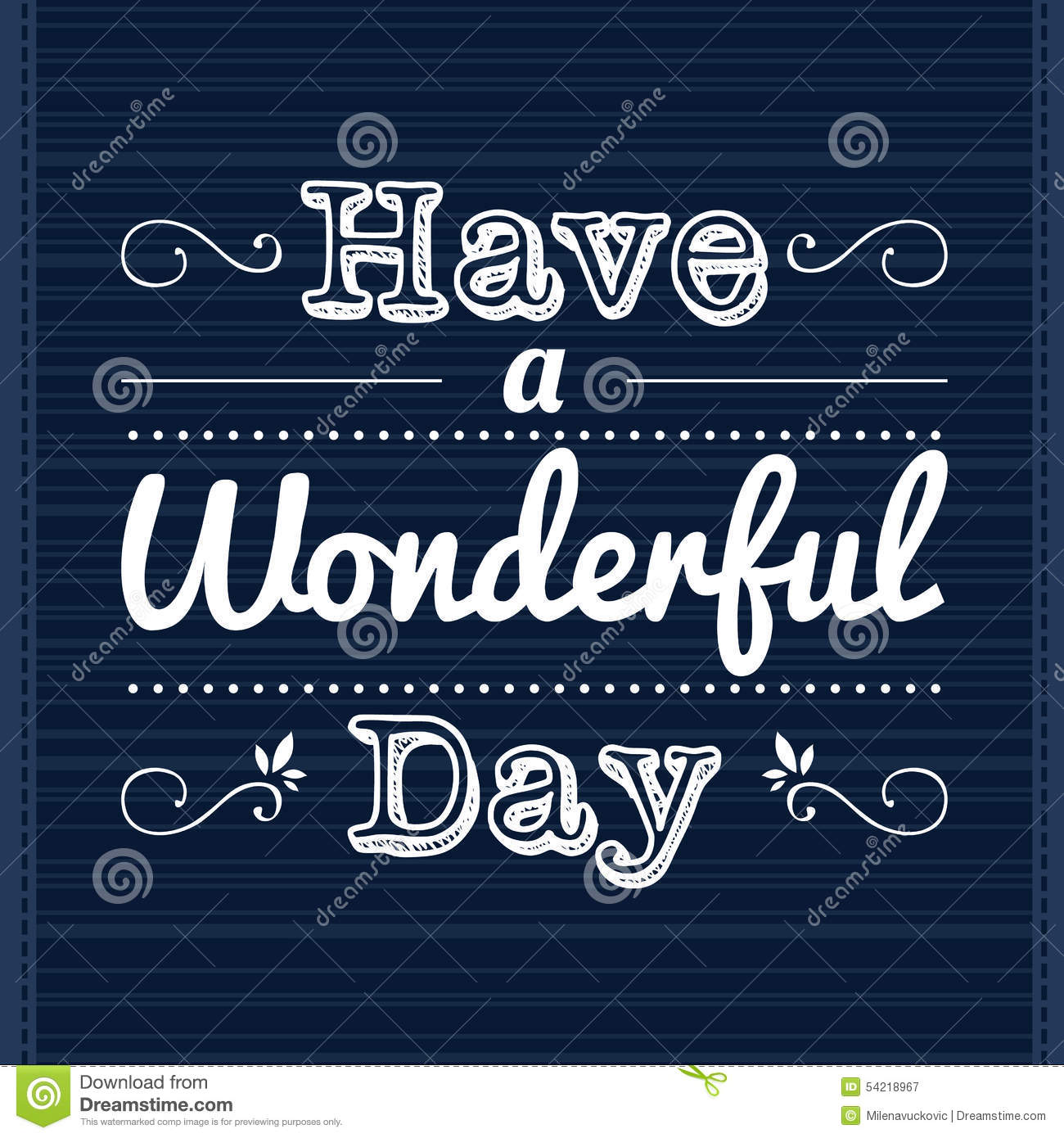 Have A Wonderful Day Stock Vector Illustration Of Card 54218967