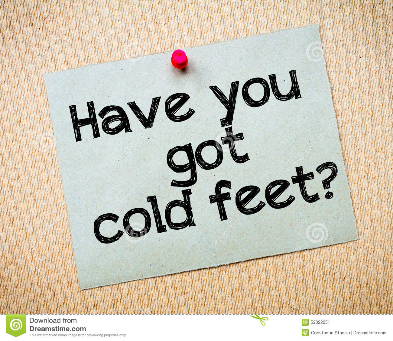 Have you got cold feet? stock image. Image of copy, space