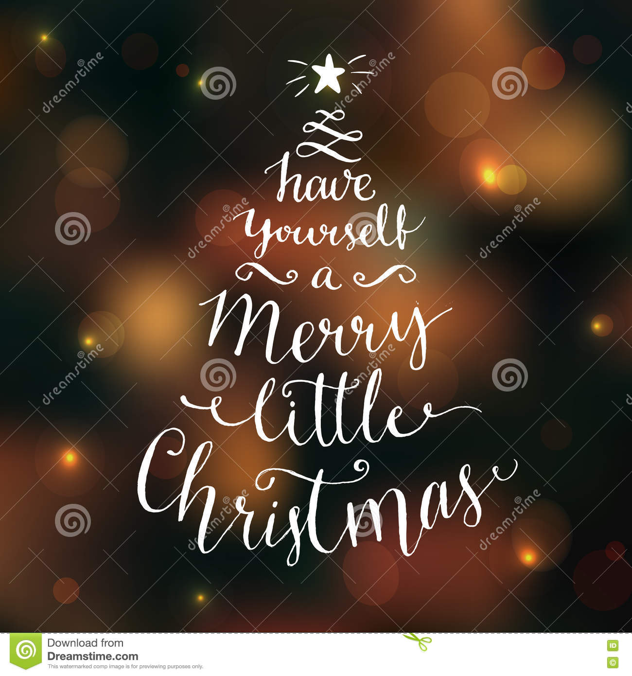 Have Yourself A Merry Little Christmas.Have Yourself A Merry Little Christmas Greeting Card With