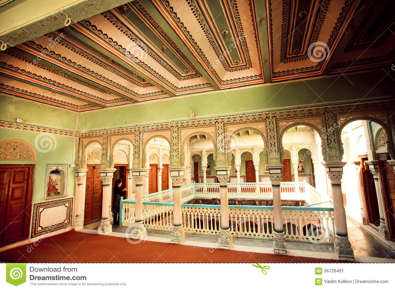 Haveli mansion house belongs to rich indian family