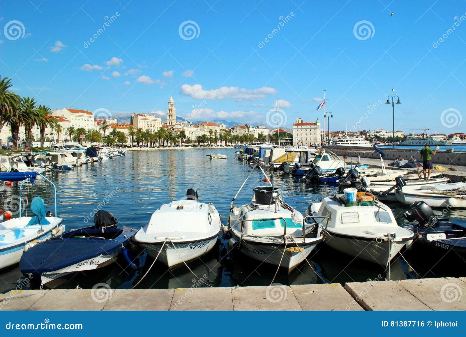 Haven in Spleet, Kroatië