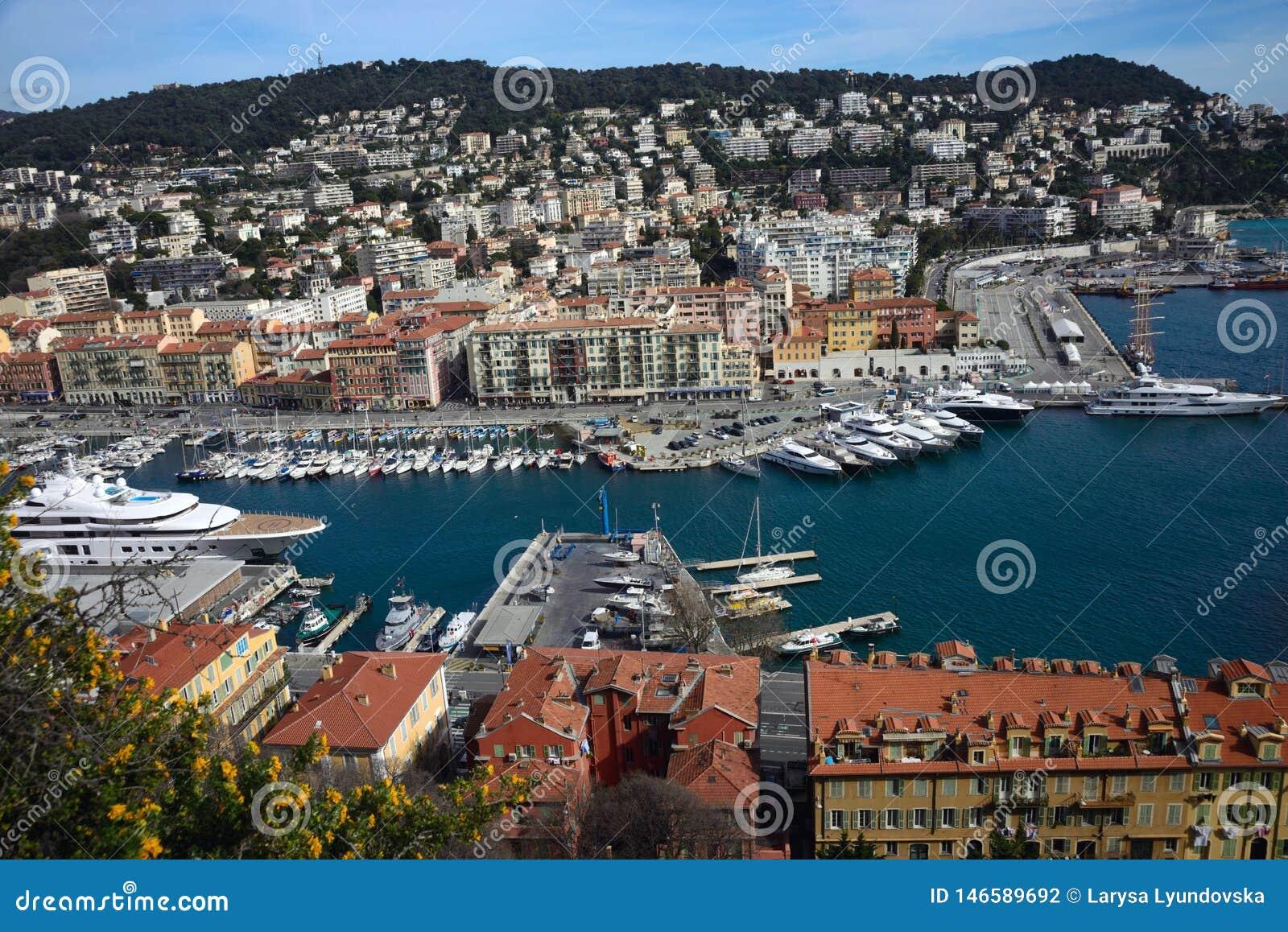 Haven van de Franse stad van Nice