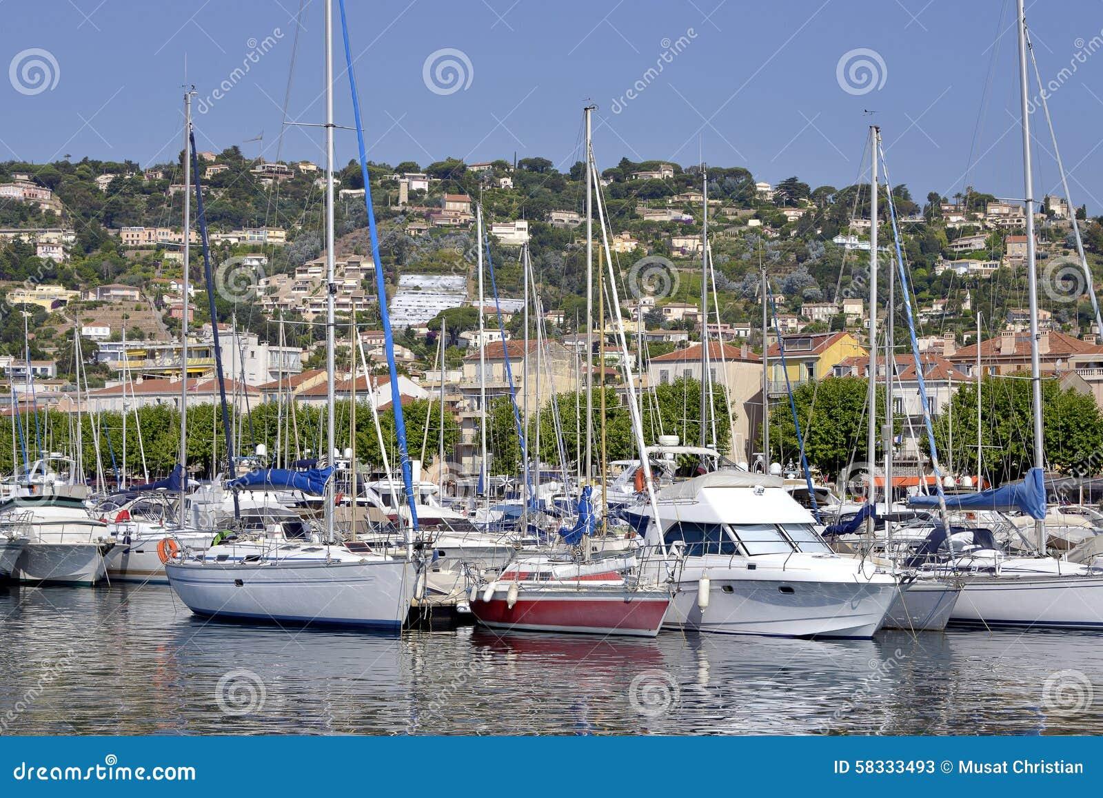 Haven van golfe-Juan in Frankrijk
